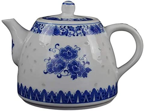 Amazon Com Large Teapot Blue And White Porcelain Tea Pot 6 Cup Store 56 Ounce China Coffee Pot Teapots