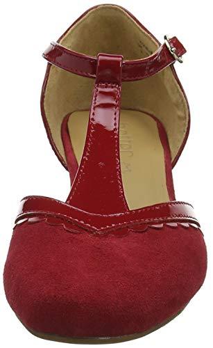 181 Rouge Viviene Hotter Patent Femme Tango Red Salomé Escarpins g1wIx6