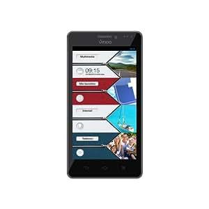"Vexia Zippers - Smartphone de 4.3"" (WiFi, Bluetooth, Intel Atom, RAM de 1 GB, memoria interna de 8 GB, cámara 5 MP, Android 4) negro"