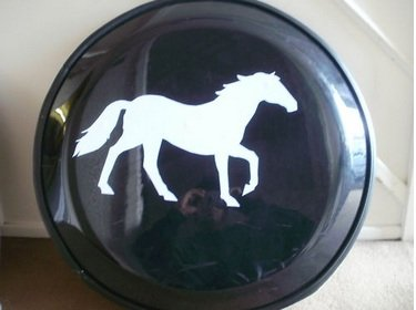 Horse Black Semi Rigid plastic tyre wheel cover 4x4 new BargainworldUK