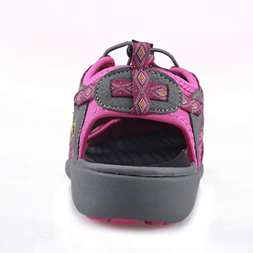 Pictures of GRITION Women Athletic Hiking Sandals Closed Toe 1801BLM 5