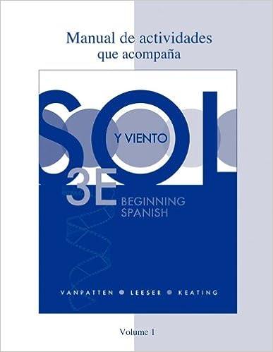 Amazon com: Workbook/Lab Manual (Manual de actividades) Volume 1 for