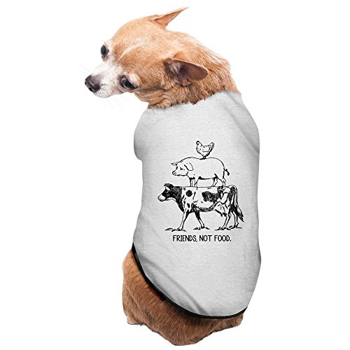 - Fashion Sleeveless Pet Supplies Farm Animal Cow Pig Chicken Pyramid Dog Jackets Dogs T Shirts