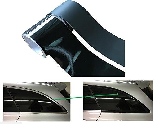 Meyerle Leistenfolie² zelfklevende folie, 10 meter, om chroomlijsten zelf zwart te maken, zonder gebruik van autolakken…