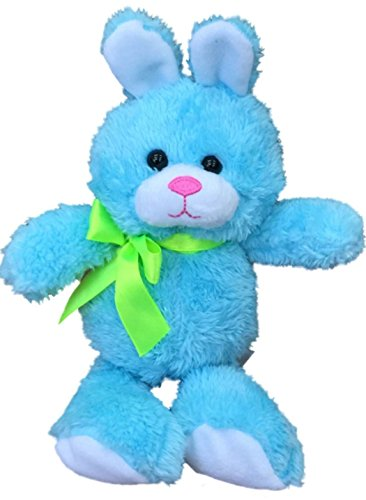 Animal Adventure Small Bright Blue Bunny Rabbit Plush Stuffed Animal Pal (Blue Plush Bunny Rabbit)