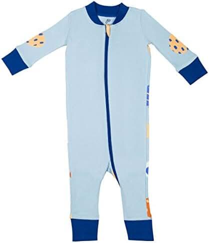 Papallou baby boy girl abstract print pajama set