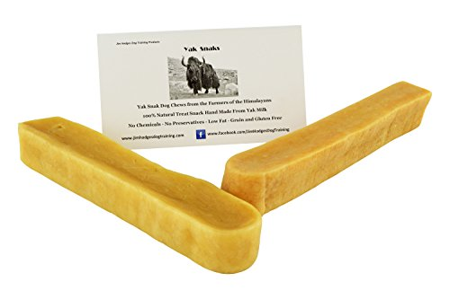 Himalayan Yak Snak Dog Chew - Large to Extra Large 2 Pack - Hard Cheese Snack Chews for Your Dog or Puppy Made from Yak Milk - All Natural - No Preservatives - Healthy - Limited Ingredients