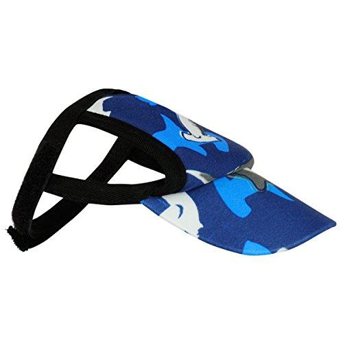 PlayaPup Sun Protective Dog Visor, Surf Blue, X-Large
