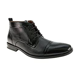 Ferro Aldo Men's 806005A Cap Toe Ankle High Lace Up Dress Boots
