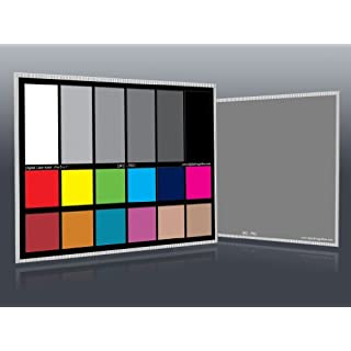 "DGK Color Tools DKC-Pro 5"" x 7"" Set of 2 White Balance and Color Calibration Charts with 12% and 18% Gray - Pro Quality - Includes Frame Stand and User Guide"
