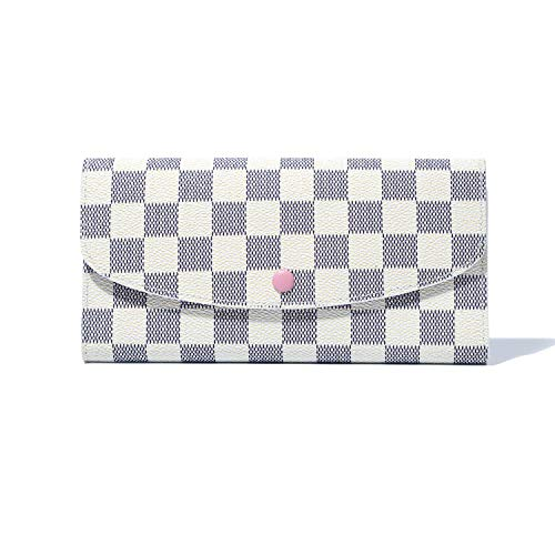 RFID Wallets for Women, Ladies Travel Slim Bifold Leather Wallet (White)