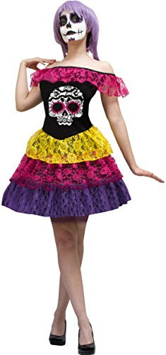 The Catrina Heart Women Dress Costume Made In Mexico (Large) ()