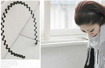Amazon.com   Winstonia s Unisex Black Wavy Hair Band Headband ... b436fad2aa6