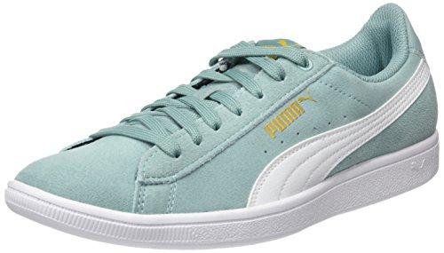 Puma WoMen Vikky Low-Top Sneakers, Aruba Blue White 14 Green (Aquifer-puma White)