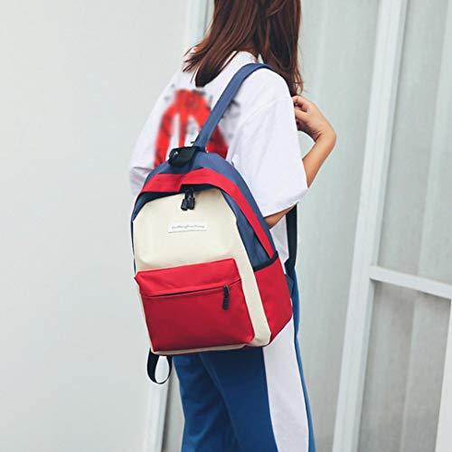 Women Women Casual Backpacks School Canvas Handbag Black Bags Handbag Hunzed Crossbody Girls Bag Shoulder D Teenagers Rucksack Travel c4H1qIR4W