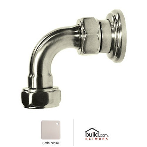 Rohl U.6390STN Perrin and Rowe Return Elbow, Satin (Rohl Return Elbow)