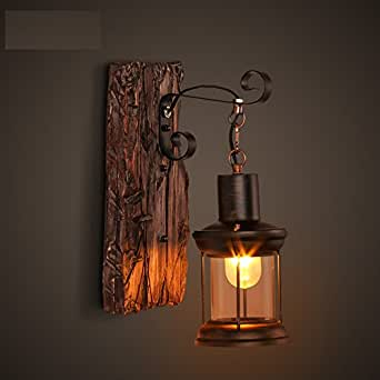 Wall Lamps Rustic : MEIREN Wall Sconce Light Wall Lamp Decor Lighting Fixture Rustic Retro, #0304 - - Amazon.com