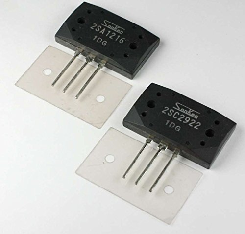Sanken Audio - 2SA1216+2SC2922 Sanken Audio Power Transistor PNP+NPN Pair with Mica Insulators, MT-200 Case