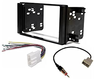 410mhNzCmGL._SX300_ amazon com aftermarket double din radio stereo installation m h wire harness at gsmportal.co