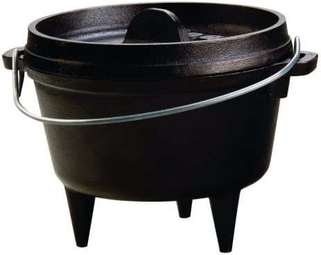 Amazon Com Lodge Cast Iron Camp Dutch Oven 1 Qt Kitchen Dining
