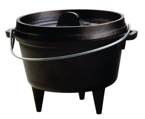 Lodge Cast Iron Camp Dutch Oven, 1 Qt