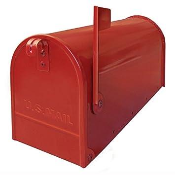 Alubox Usa1ro Boite Aux Lettres Rouge 32 X 48 Cm Amazon Fr Bricolage