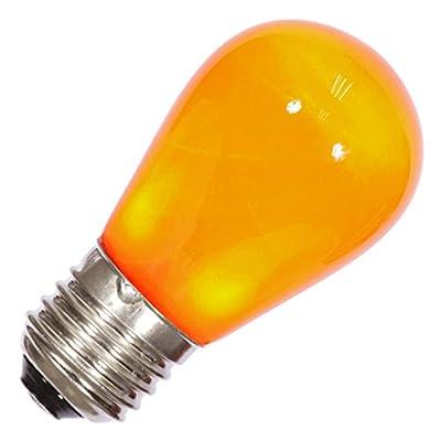 Vickerman 34655 - S14 Medium Screw Base Orange Ceramic LED Christmas Light Bulb (X14SC08)