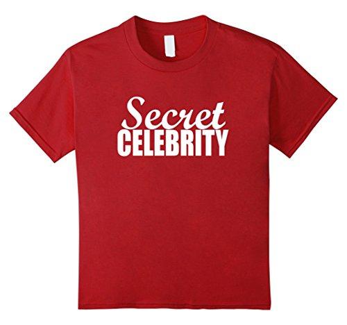 Kids Funny Halloween Costumes | Secret Celebrity Shirt 12 Cranberry - Celebrity Halloween Costumes For Kids