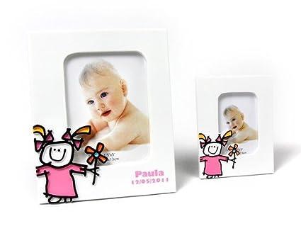 Lote de 10 Portafotos Bautizos Toy Poliresina Niña L - Portafotos para Bautizos Niña