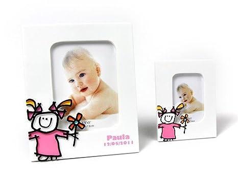 Portafotos Bautizos Toy Poliresina Niña L - Portafotos Cerámica para Recuerdos de Bautizos Originales y Baratos: Amazon.es: Bebé