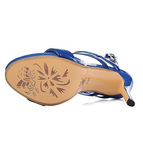 Talon RAZAMAZA à Aiguille Femmes Blue Sandales Ouvert Bout q87w6B