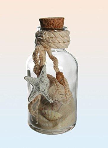 Out of the blue Botellas de Cristal Decorativo con Arena y Conchas para Maritime Decoración: Amazon.es: Hogar