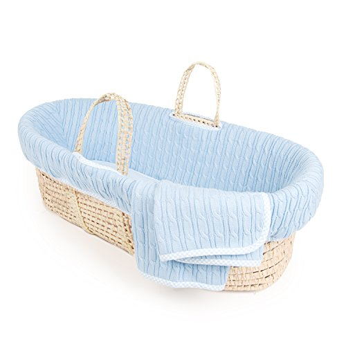 Tadpoles-Cable-Knit-Moses-Basket-and-Bedding-Set