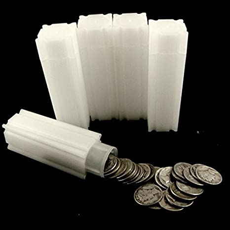 10 CoinSafe US Dime Square Coin Storage Tube Holders Qty