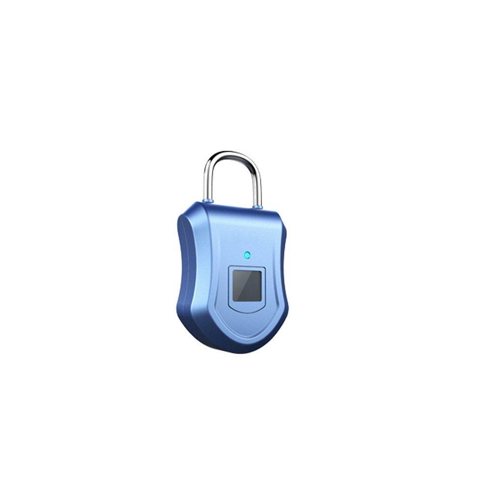 XHZNDZ Fingerprint Padlock, Smart Lock Ideal for Duffel Bag, Shopping Carts, Suitcase, Gym Locker, Cabinet, Cupboard, Drawer and More Indoor Applications
