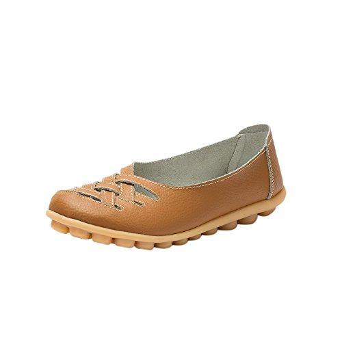 fereshte , Sandales Compensées femme - marron - marron clair,