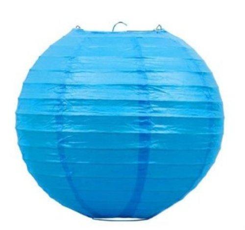Liroyal-10-Blue-Round-Paper-Lantern-10-Pack