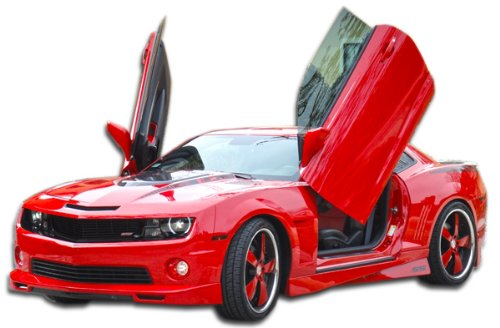2010-2013 Chevrolet Camaro V8 Duraflex Racer Body Kit - 4 Piece - Includes Racer Front Lip Under Spoiler Air Dam (105982) Racer Side Skirts Rocker Panels (105983) Racer Rear Lip - Skirt Air Dam