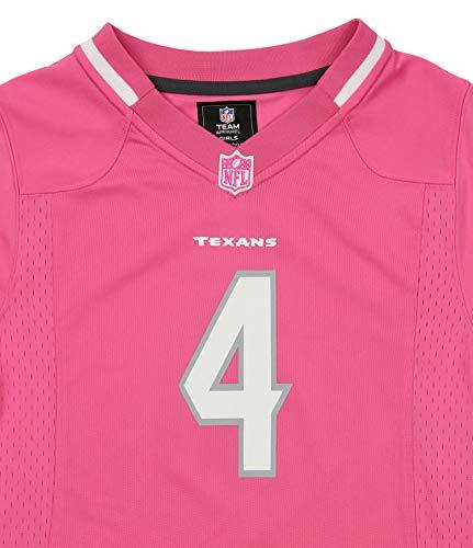 ba29f7b398e Outerstuff NFL Youth Girl's Houston Texans Deshaun Watson Jersey, Bubble  Gum Pink Medium (10