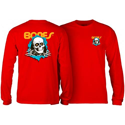 Powell-Peralta Skateboard Long Sleeve Shirt Ripper Red Size L