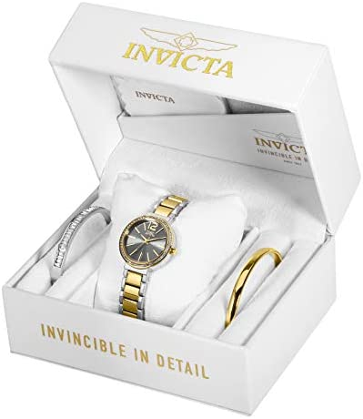Invicta Women's Angel Quartz Watch with Stainless Steel Strap, Two Tone, 13 (Model: 29274)