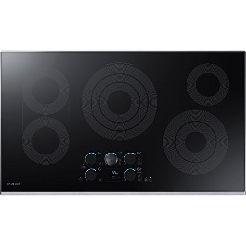 "Price comparison product image Samsung 36"" Stainless Steel Electric Smoothtop Stovetop Cooktop with WiFi Connectivity NZ36K7570RS"