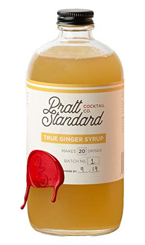 Pratt Standard Cocktail Company Old Fashioned Authentic Ginger Syrup for Cocktails, 16 oz