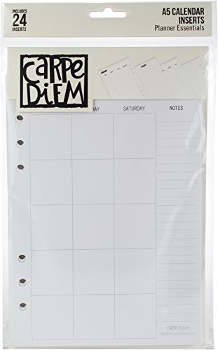 Simple 10185 Carpe Diem A5 Planner Double-Sided Inserts Multicolor by Simple (Image #1)