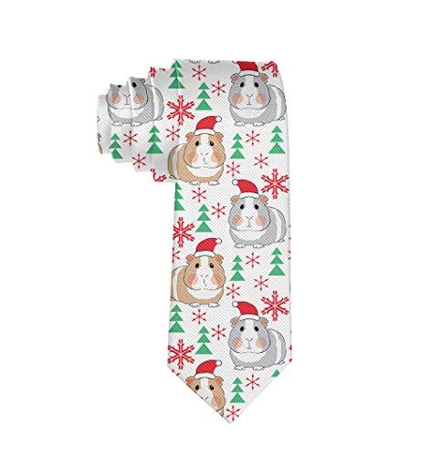 Fashion Accessory - Christmas Guinea Pig Men Necktie For Party Office Uniform -