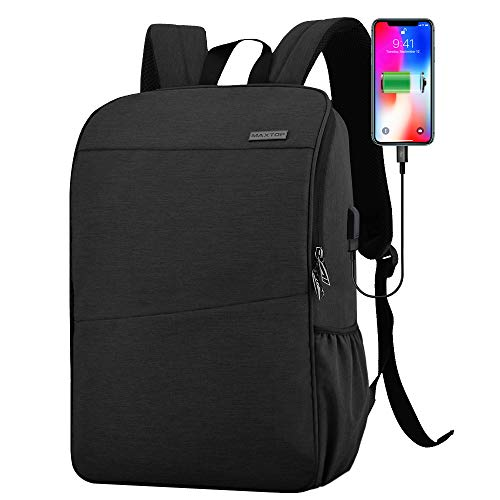 Laptop Backpack for Men Women School College Bookbag Business Travel Backpack Water Resistant Computer Backpack with USB Charging Port Fits 15.6 Inch Laptop