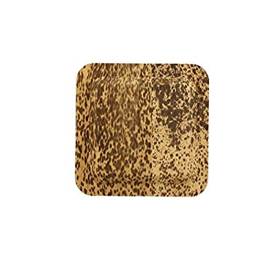 "CiboWares Premium 6"" Square Bamboo Leaf Cocktail Plate, Eco-Friendly and Disposable for Home and Catering, Package of 50"