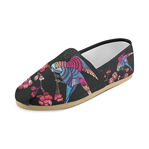 With Casual a InterestPrint Men Shoes Bird 2 Flowering Women elephant Loafers Branch for xwvzTZ