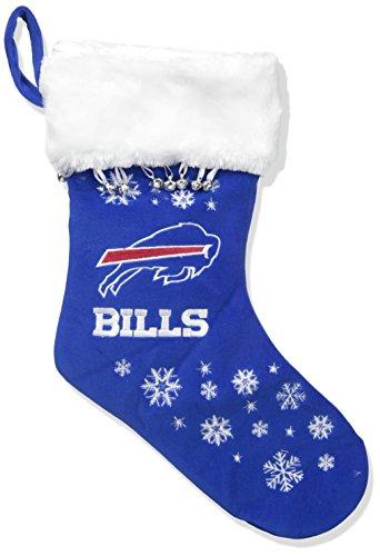 Buffalo Bills Embroidered Football - NFL Buffalo Bills Full Embroidered Snowflake Stocking
