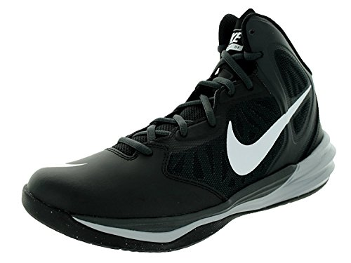 Nike Mens Prime Hype DF Basketball Shoe, Black/White/Anthracite/Drk Gry, 41 D(M) EU/7 D(M) UK